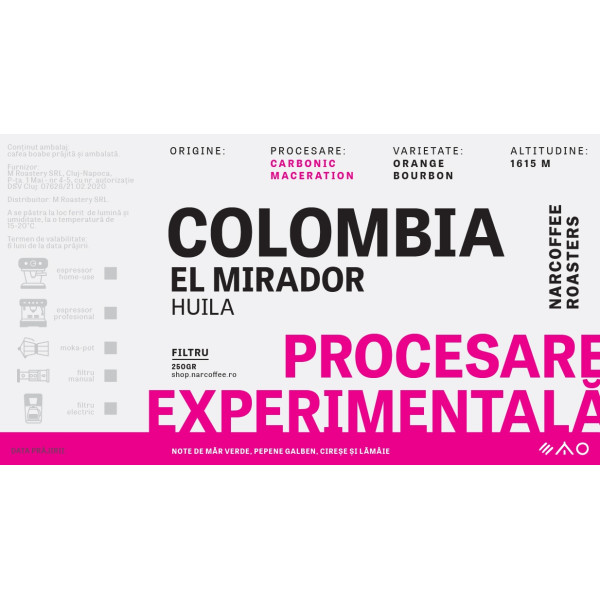 Colombia, El Mirador - Carbonic Maceration Filtru